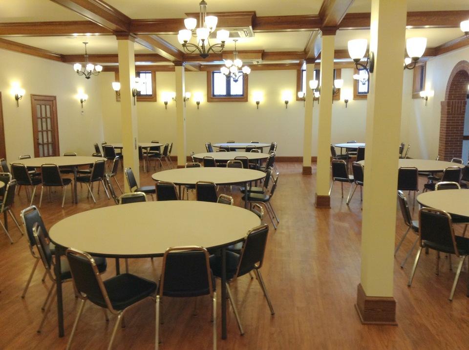 Social Hall facing east